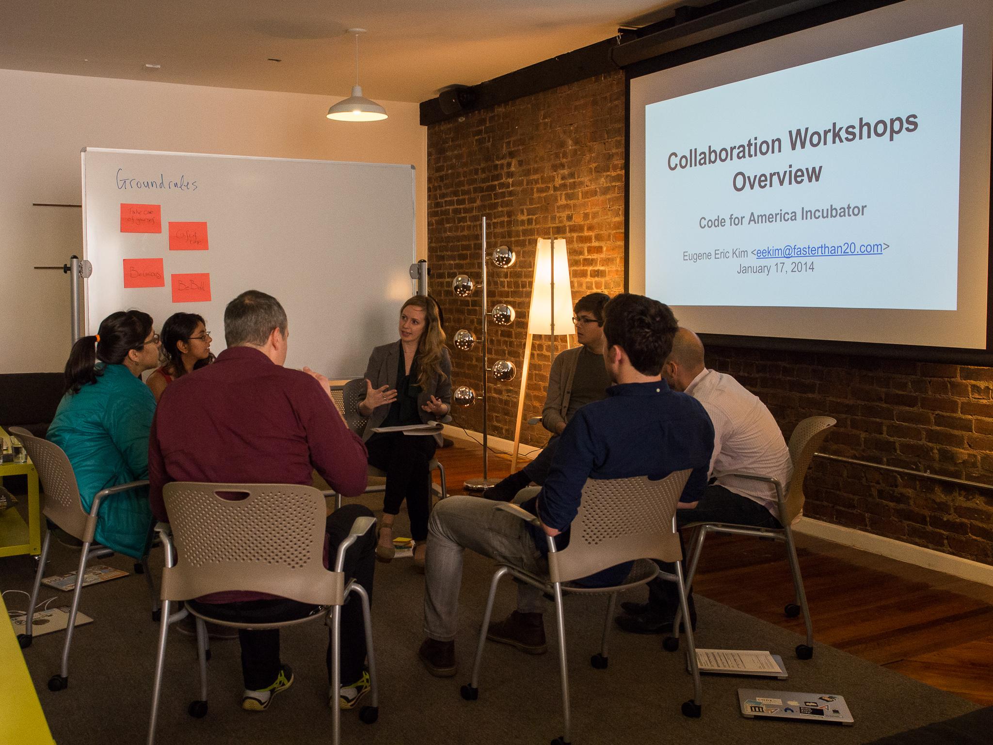Startup Habits Workshop at Code for America