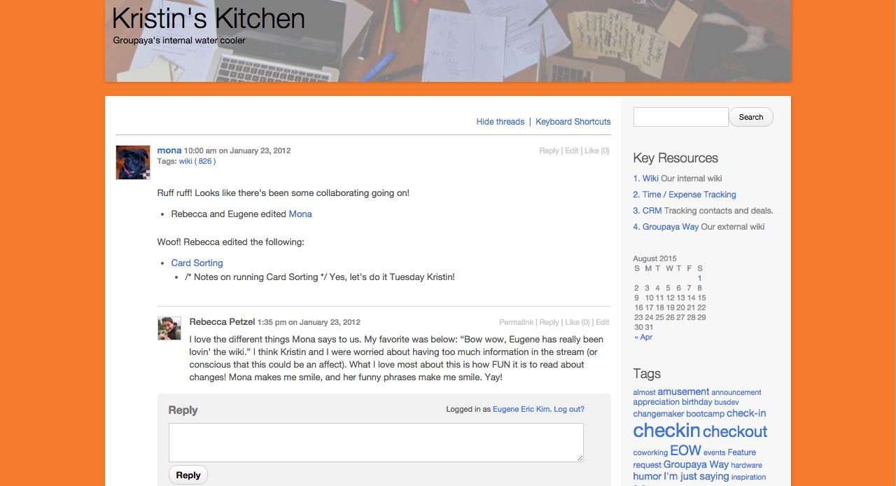 Screenshot: Mona in Kristin's Kitchen