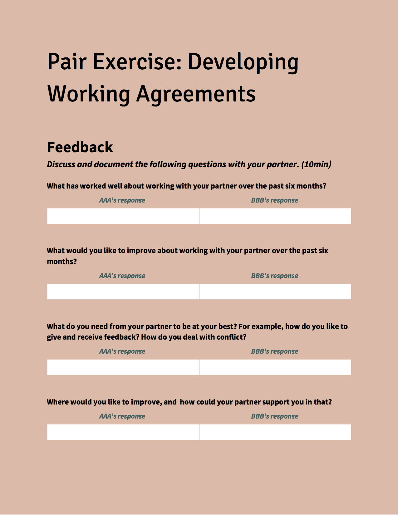 Toolkit: Working Agreements